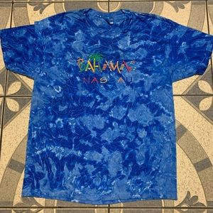 NWOT Vintage Tie Dye Bahamas Embroidered Spellout
